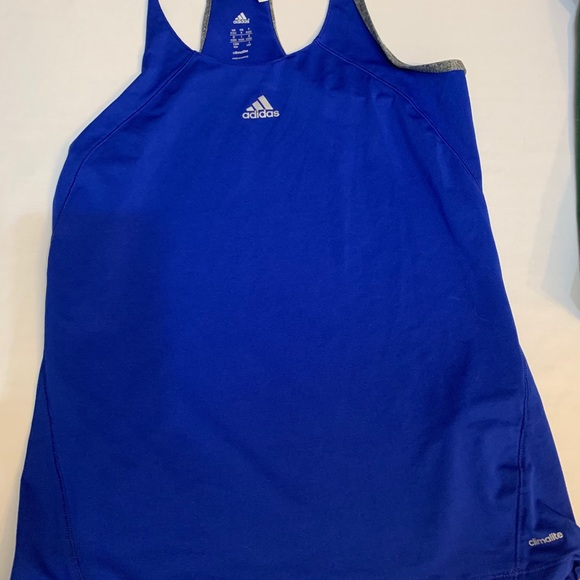 🐣🐣Adidas Climate Exercise Tank Top US M Blue🐣